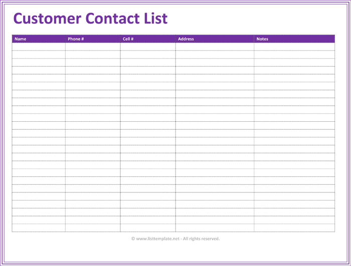 contact list template 28 images 10 excel contact list