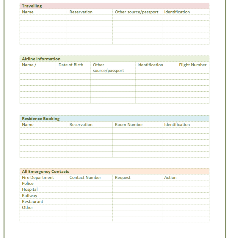 contact list template word List Templates – Contacts Template Word